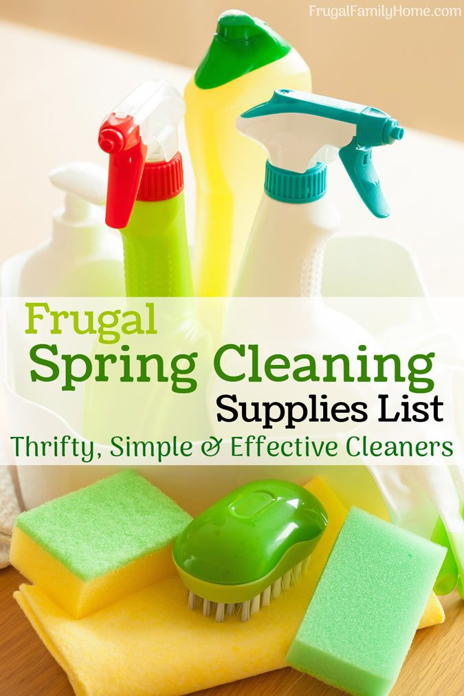 Frugal Spring Cleaning Supplies ~ No need for a million cleaning supplies when a few frugal ones can help you get your spring cleaning done.