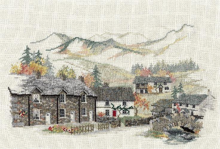 Derwentwater   Derwentwater Cross Stitch Kit - England/Cumbrian Village ...