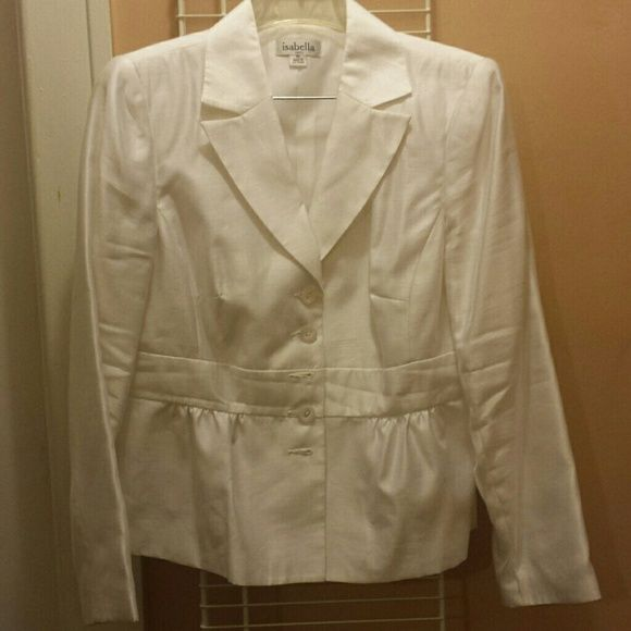 White skirt suit Nice white suit great for church or a very special Spring or Summer occasion. Skirts