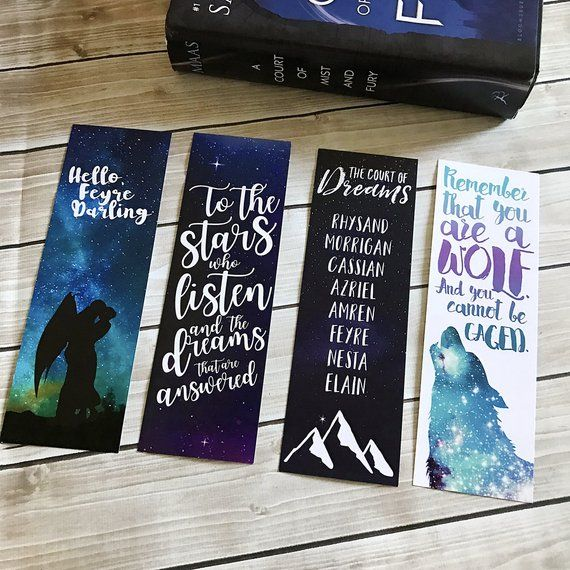 A Court Of Thorns And Roses Bookmark Set Acomaf Bookmarks