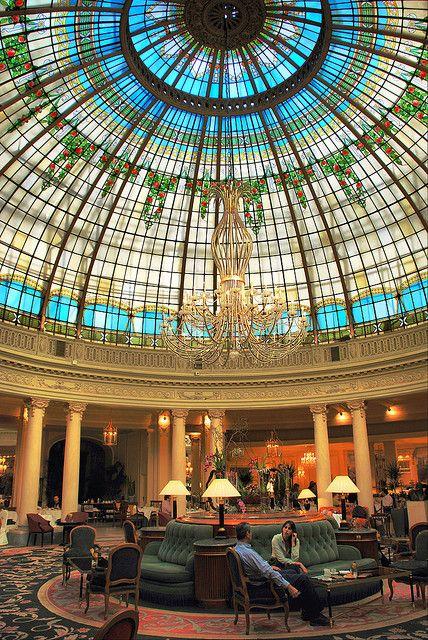 Madrid. Hotel Palace. Cúpula de la Rotonda.