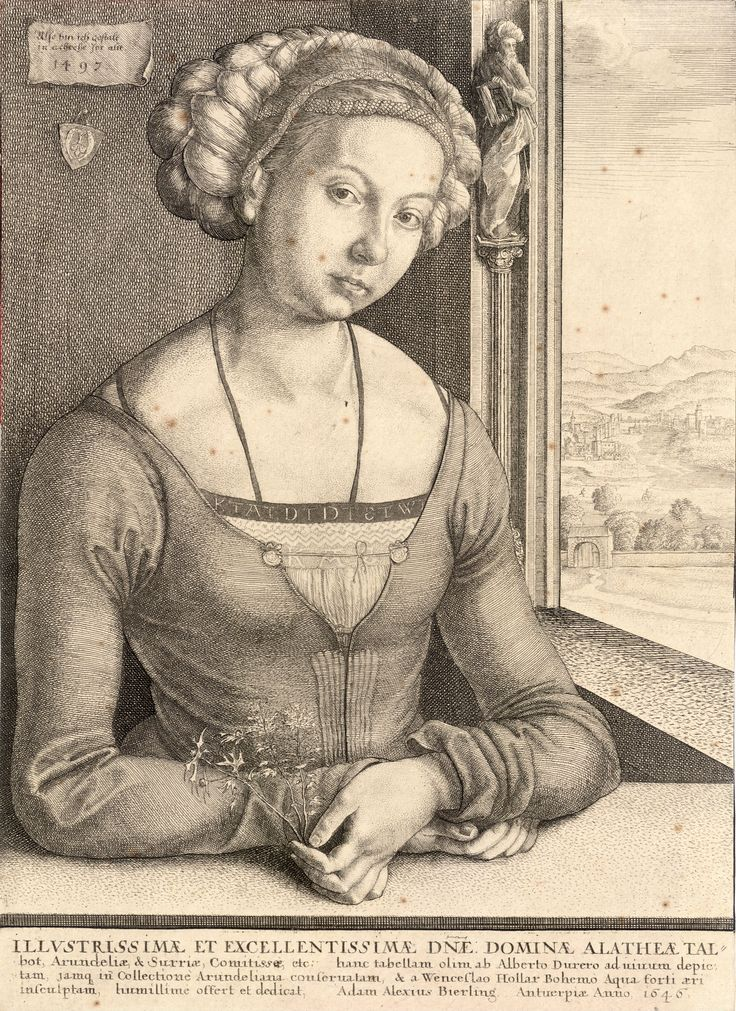 Wenceslas_Hollar_-_Woman_with_coiled_hair,_after_Dürer_(State_2).jpg (4110×5647)