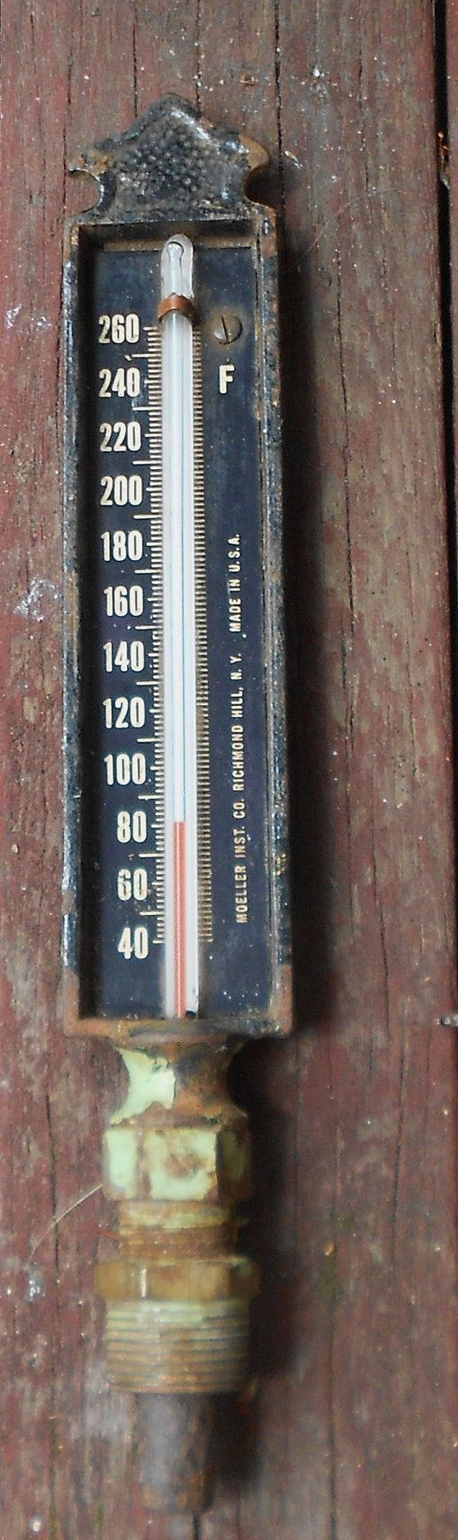 Vintage INDUSTRIAL THERMOMETER Cast Iron by JunqueInTheTrunque, $35.00