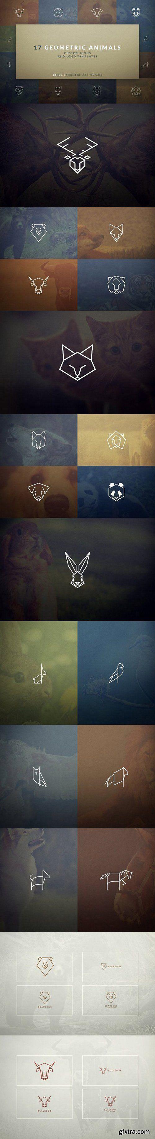 CM - 17 Geometric Animal Icons and Logos 1585900