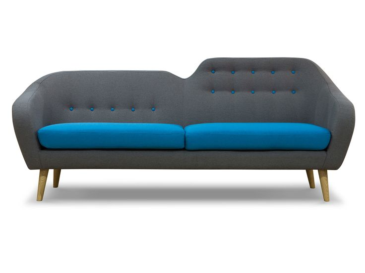 Retro sofa siva von sofas sessel lounger for Couch 0 interest