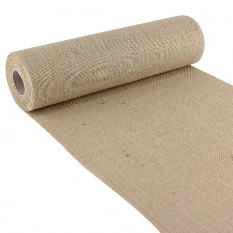 chemin de table toile de jute naturelle mariage pinterest toile jute and tables