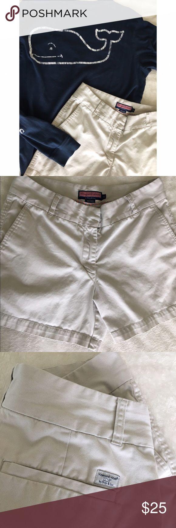 Vineyard Vines beige shorts Cute for the summer casual look. Cotton blend. Light beige color Vineyard Vines Shorts