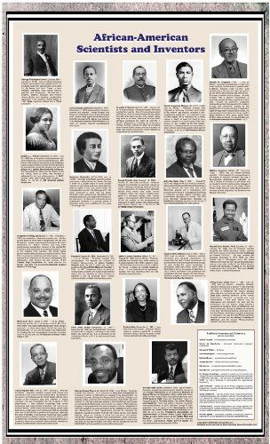 American Educational African-American Scientists And Inventors Historical Poster, 2015 Amazon Top Rated Charts & Posters #BISS