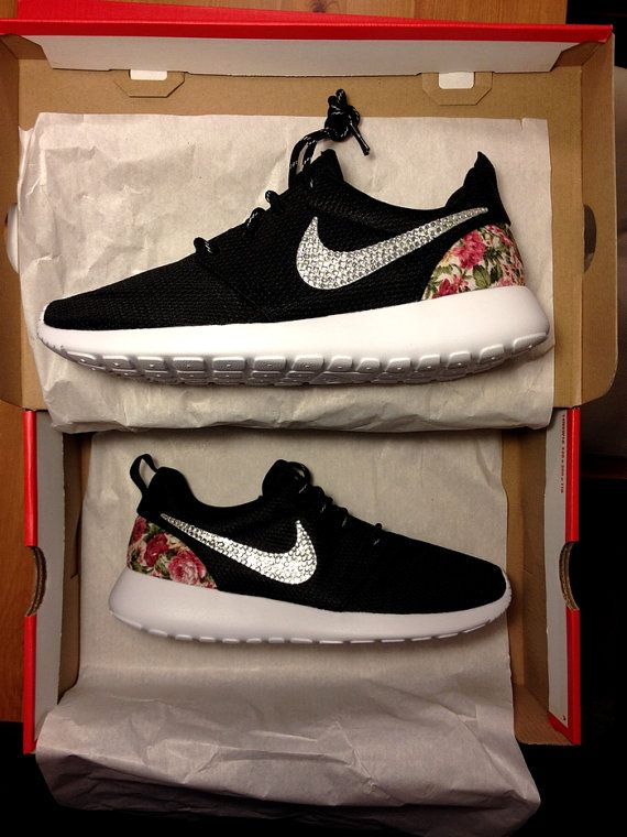 Nike Roshe Run One Black with Glitter Swarovski by DenisCustoms