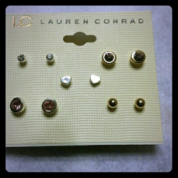 LC Lauren Conrad set of 5 earrings New with tags, LC Lauren Conrad set of 5 earrings. Super cute set. LC Lauren Conrad Jewelry Earrings