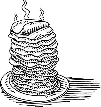 Pile Of Pancakes Drawing