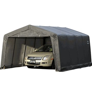 The X X Portable Garage Canopy Includes A Durable Steel Frame That Is  Completely Enclosed By A 9 Oz Water Proof Cover Kit. The X X Portable Garage  Is The ...