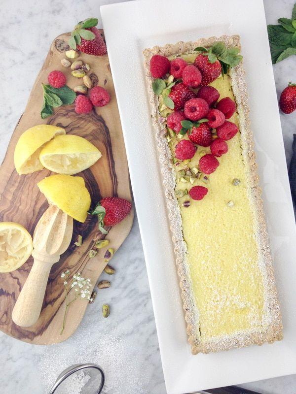 Gluten free lemon curd tart