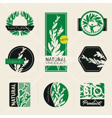 Nature-themed labels vector 1073144 - by ussr on VectorStock®