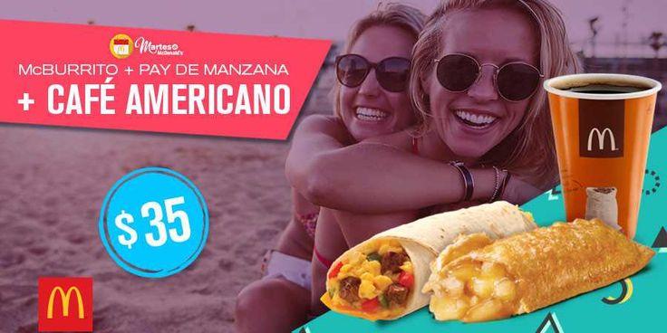 McDonald's tiene los siguientes cupones de descuento para este Martes de McDonalds 12 de septiembre:Cupón para el desayuno: McBurrito + pay de manz...