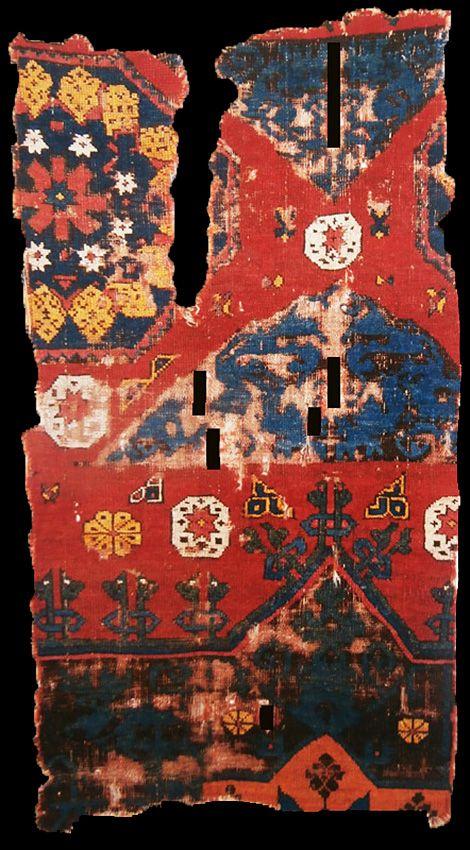 Kircheim Anatolian rug fragment, XV century