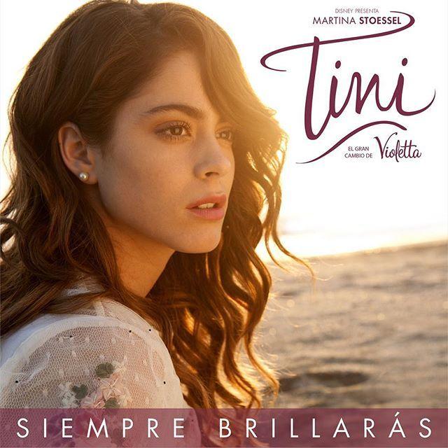 Mi primer single se llamara #SiempreBrillaras de #TiniElGranCambioDeVioletta, lo van a podes escuchar el 25 de MARZO! Falta muy poco!