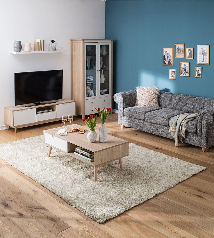 Amarás llegar a tu casa y encontrarte con este living que resalta la madera. #Muebles #Easytienda #Decoración #Combinaciones