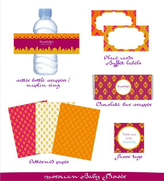 Printable Moroccan Style Baby Shower