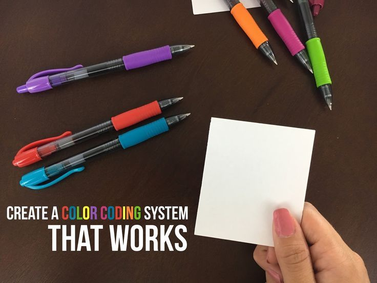 How to create a color coding system that works - Oh Hey Hannah