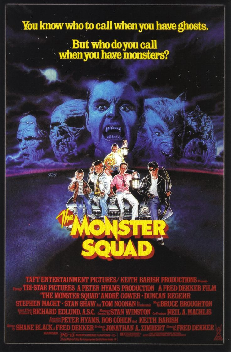 The Monster Squad: 80S Movie, Awesome Movie, Movie Posters, Great Movie, Favorite Movie, Squad 1987, Horror Movie, Monsters Squad, Kid