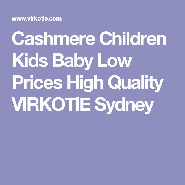 Cashmere Children Kids Baby Low Prices High Quality VIRKOTIE Sydney