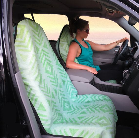 Seat Covers for Car for Vehicle Aztec Tribal Green Seat Cover