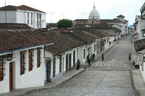 Preciosa calle de Popayán, la ciudad blanca
