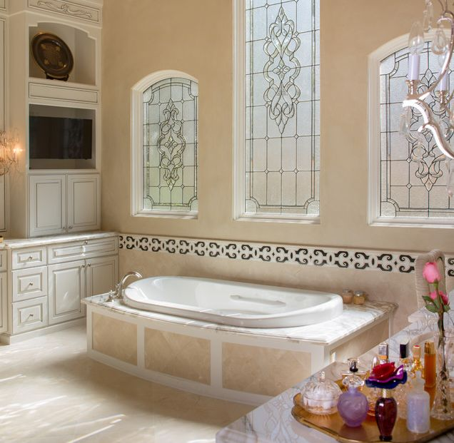 meadowick mediterranean bathroom houston thompson custom homes - Bathroom Design Houston