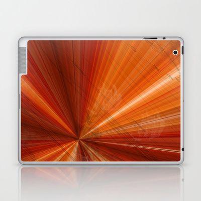 Grunge Background orange Laptop & iPad Skin by Christine baessler - $25.00