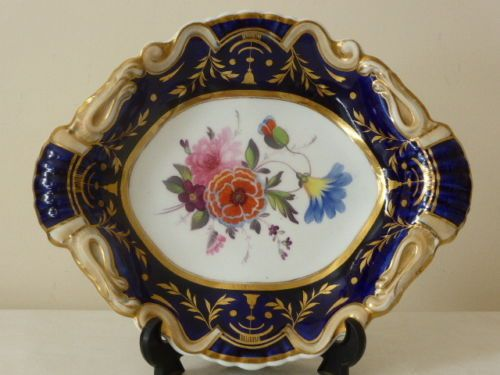 Ridgway-Hand-painted-floral-dish-plate-pre-1840-pattern-733-N2