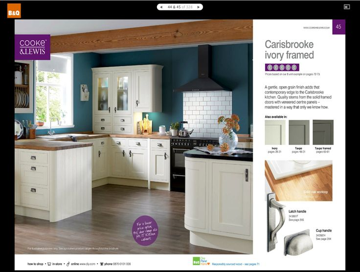 Carisbrooke ivory framed kitchen b holiday hideaway for Kitchen ideas b q
