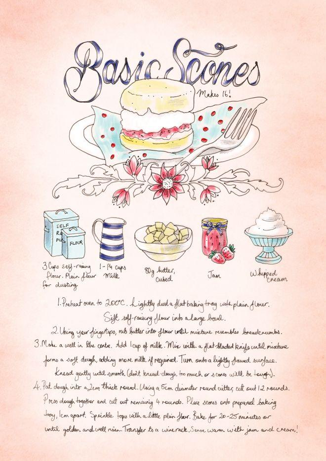 old school recipes -   (cute illustration by bec winnel!)  Hi Summer Recipes « Element Eden Australia