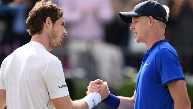 Andy Murray beats Kyle Edmund to reach Queen's Club semi-finals - BBC Sport