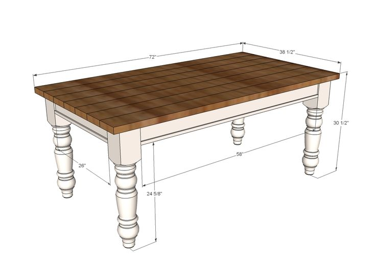 25 best ideas about diy farmhouse table on pinterest Narrow farmhouse table plans