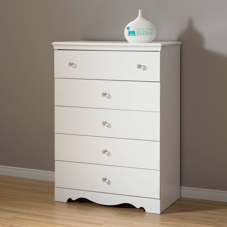 South Shore 5 Drawer Chest White