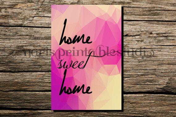 Home sweet home wall art digital art by MarisPrintableStudio