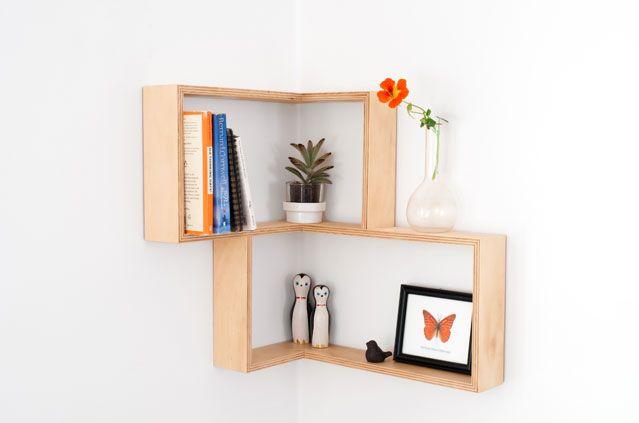 SENKKI FURNITURE Plywood Corner Shadow Box | Shelf | Shelves | Home to your beautiful trinkets | Delivery worldwide