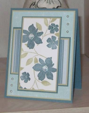 Best Blue Bayou Blossoms by Clownmom - Cards and Paper Crafts at Splitcoaststampers