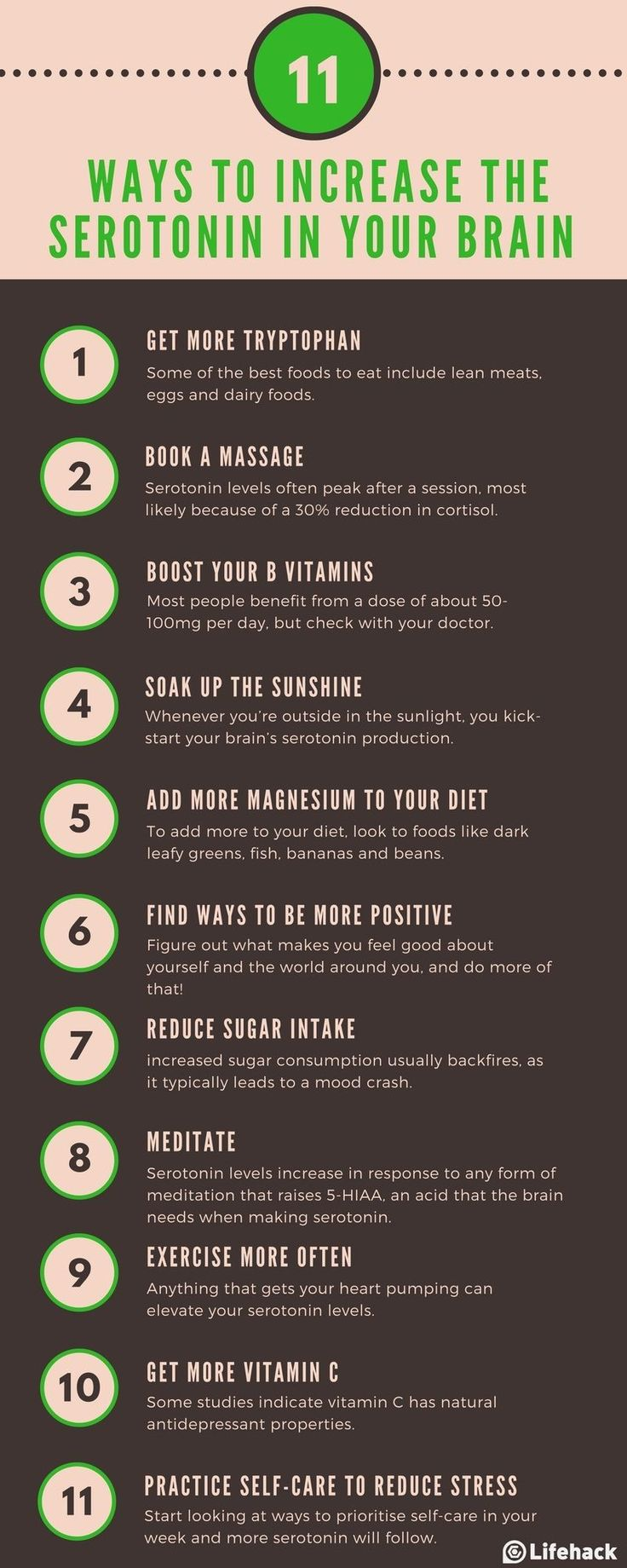Low serotonin influences everything from your appetite to your sleep cycle, memory, sex drive, and (of course) mood. Here are 11 ways to give it a boost.