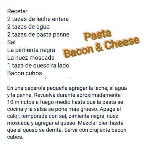 Pasta de Bacon & Cheese