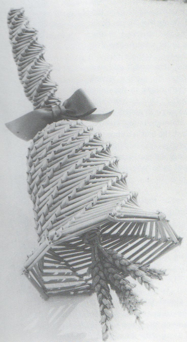 Cambridgeshire Bell corn dolly. Photo: Edwin Smith, from the book 'The Golden Dolly' by M. Lambeth.