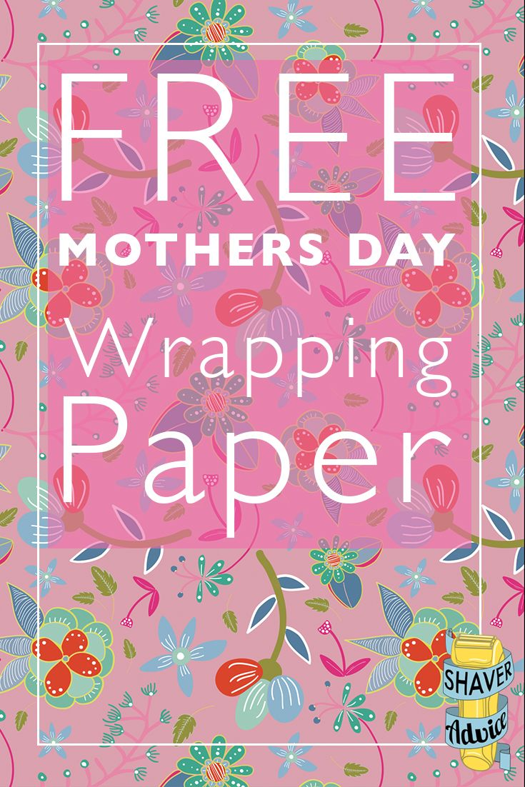 Printable Wrapping Paper | Free Mother's Day Wrapping Paper | Free Gift Wrap | Click through to get your free wrapping paper!