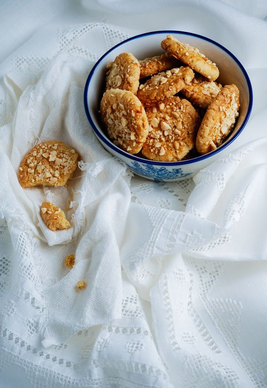 Receta 984: Pastas de té con almendras ralladas » 1080 Fotos de cocina
