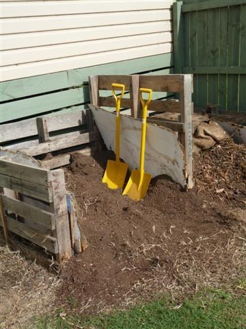Even matching shovels...