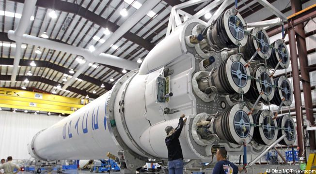 The Dragon cargo vessel developed by private firm SpaceX