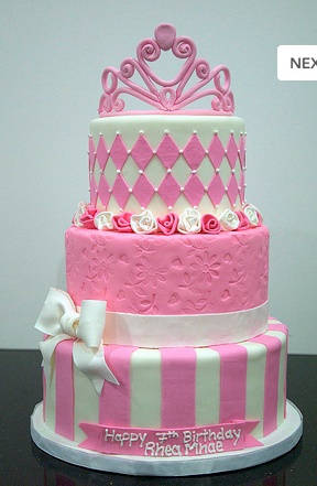 Perfect little girl's cake