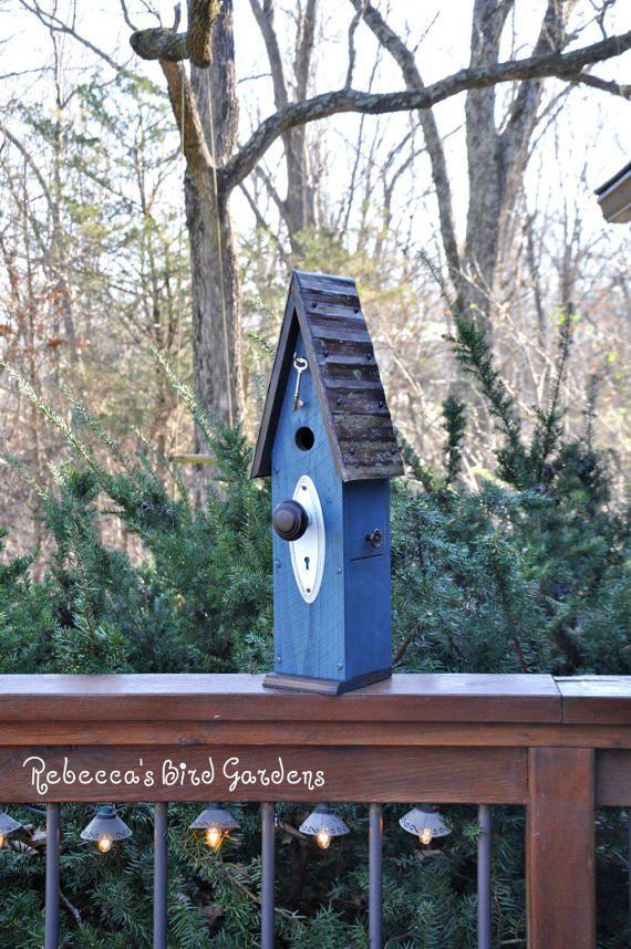 "Rustic Birdhouse ~ ""The Loft"" - Unique Birdhouse - Bird House - Wooden Birdhouse - Outdoor Birdhouse - Vintage Birdhouse - Shabby Chic"