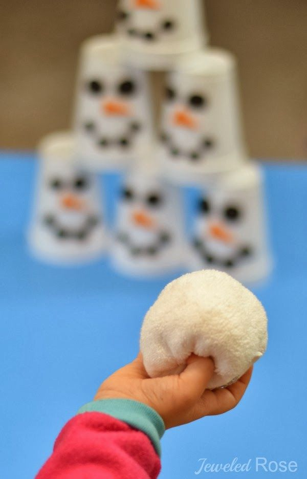 Snowman Slam Game for Kids.  A fun game for when you're stuck inside