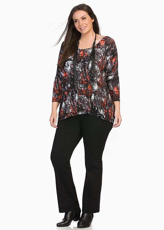 CLEARANCE - Plus Size Women's Clothing | Taking Shape - NORTHSIDE ABBIE TOP